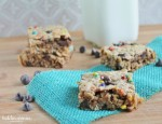 Chewy Monster Cookie Bars