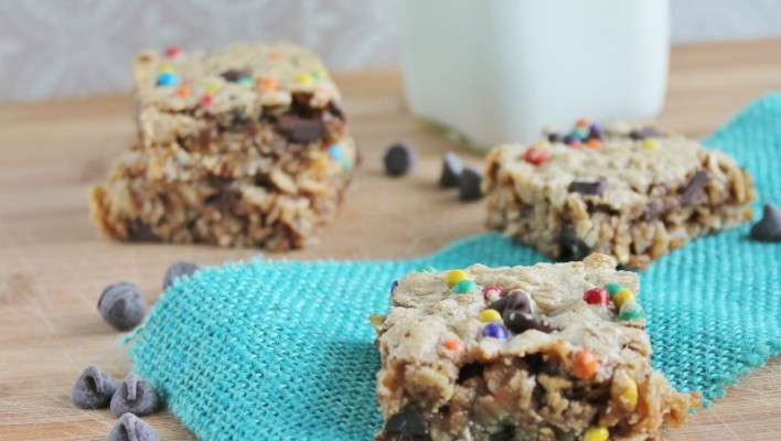 Monster Cookie Bars (naturally gluten free!)