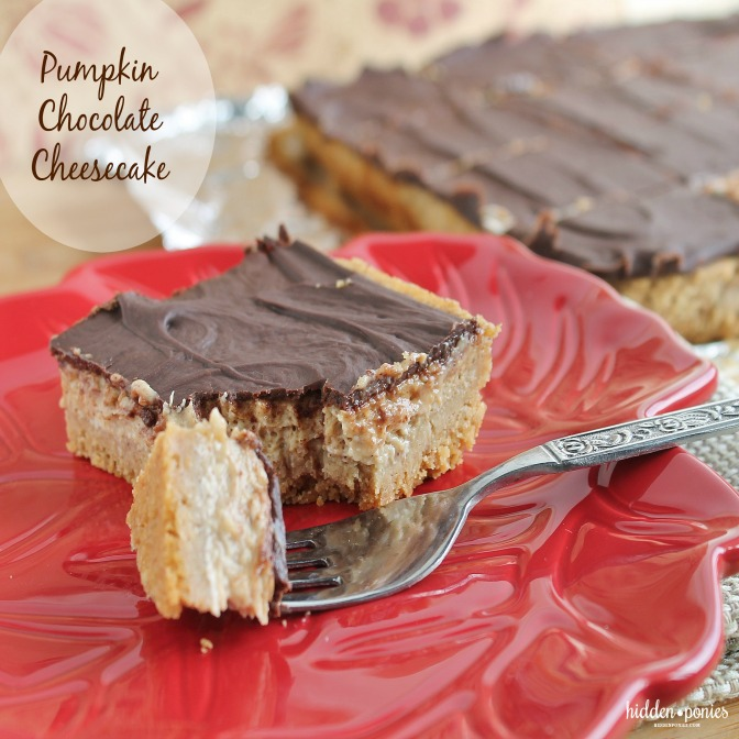 Pumpkin Chocolate Cheesecake