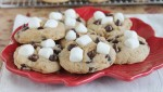 Chewy Pumpkin S'mores Cookies