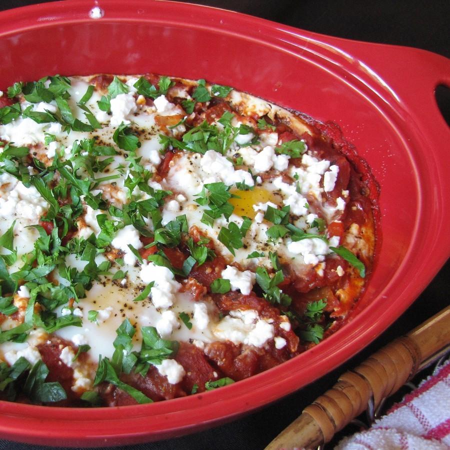 Tomato & Feta Baked Eggs