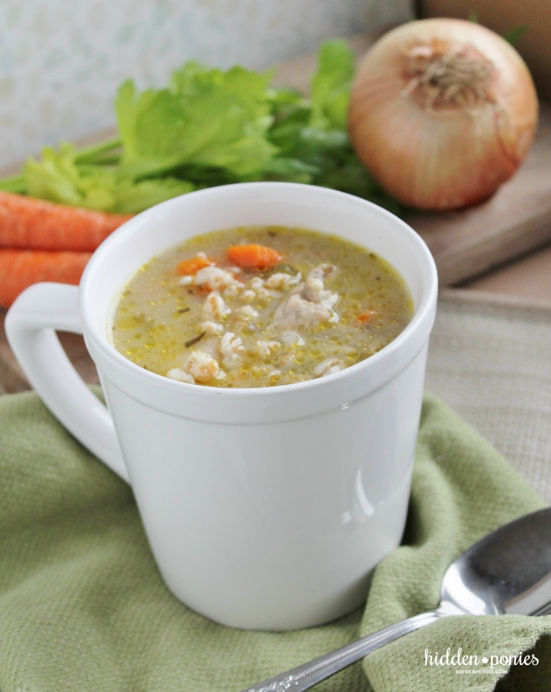 Lemon Chicken Soup with Farro