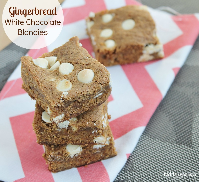 Chewy Gingerbread White Chocolate Blondies