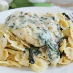 Creamy Garlic Chicken with Bacon Alfredo
