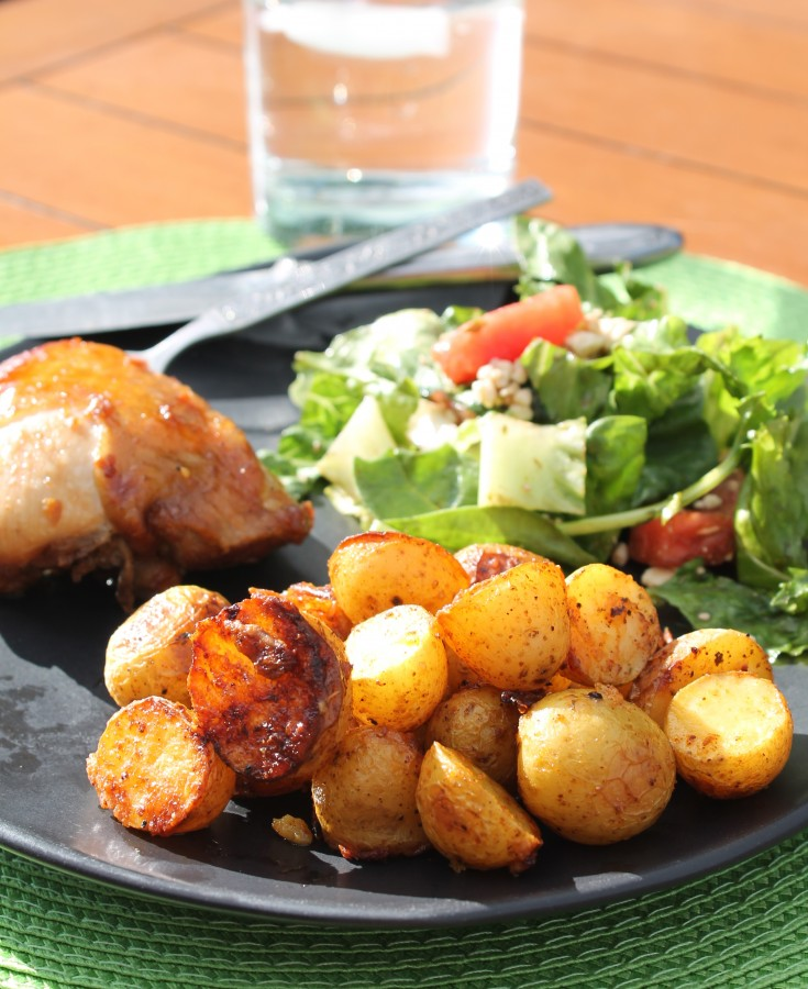 roasted new potatoes side dish