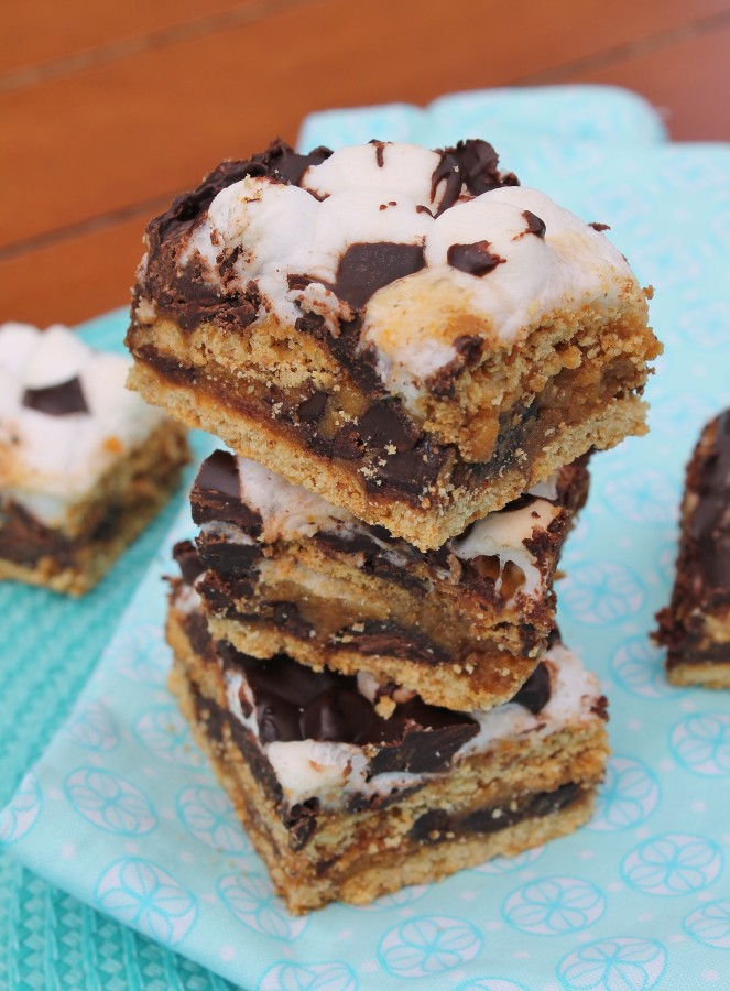 S'mores Bars...crazy good, I can eat s'mores all year now!!
