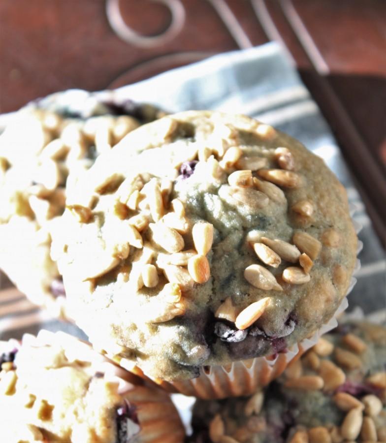 Lentil Oat Blueberry Muffins