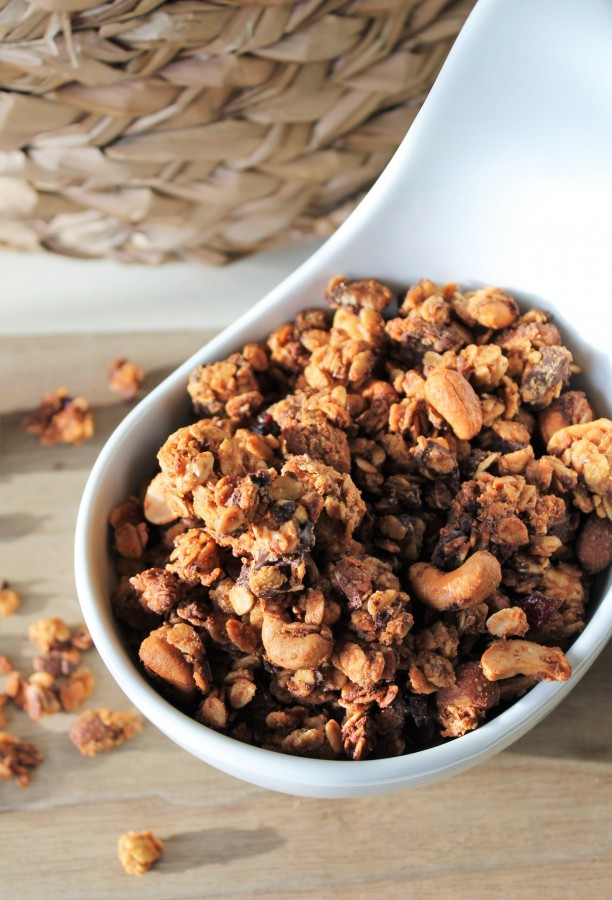 Nutty Chocolate Granola - make it with any nuts and nut butters you have on hand!
