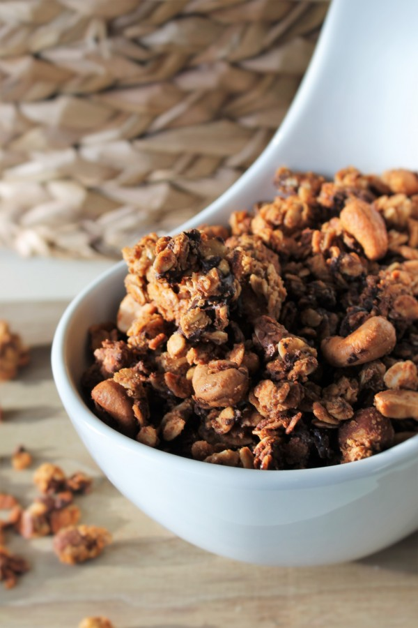 Nutty Chocolate Granola - I could eat this every morning, and it's chunky enough to eat by the handful!