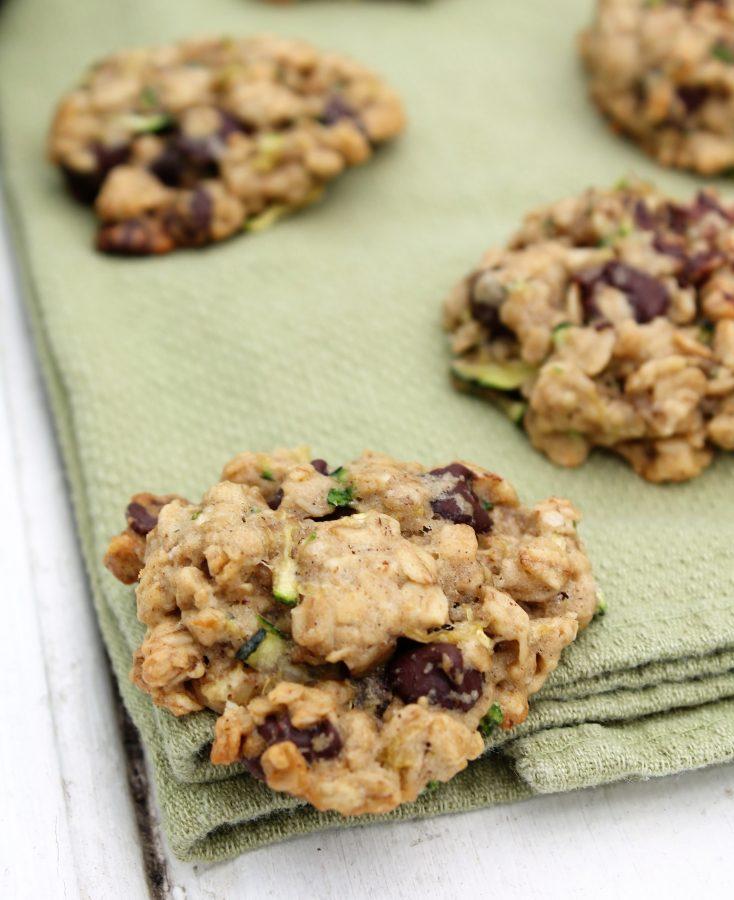 Chewy Zucchini Oatmeal Cookies