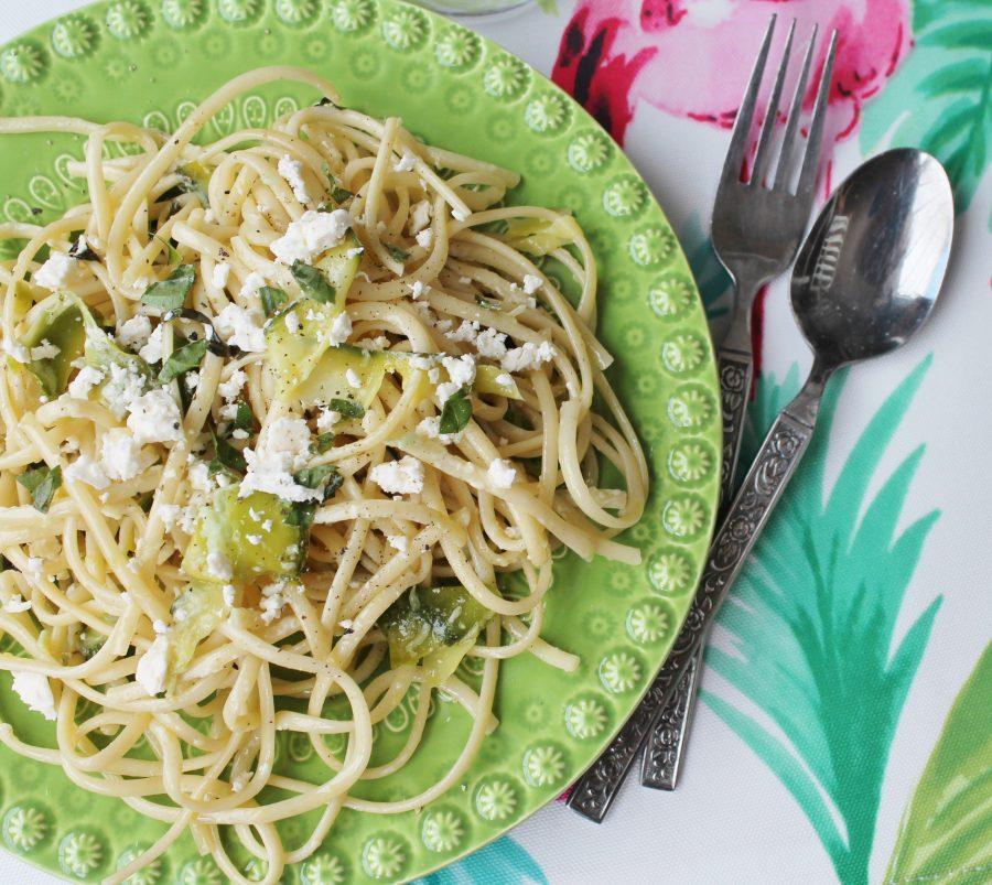Zucchini Basil Spaghetti