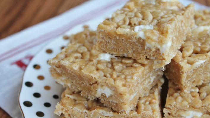 Peanut Butter & Honey Krispie Treats