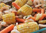 Roasted Veggies & Shrimp Sheet Pan Dinner